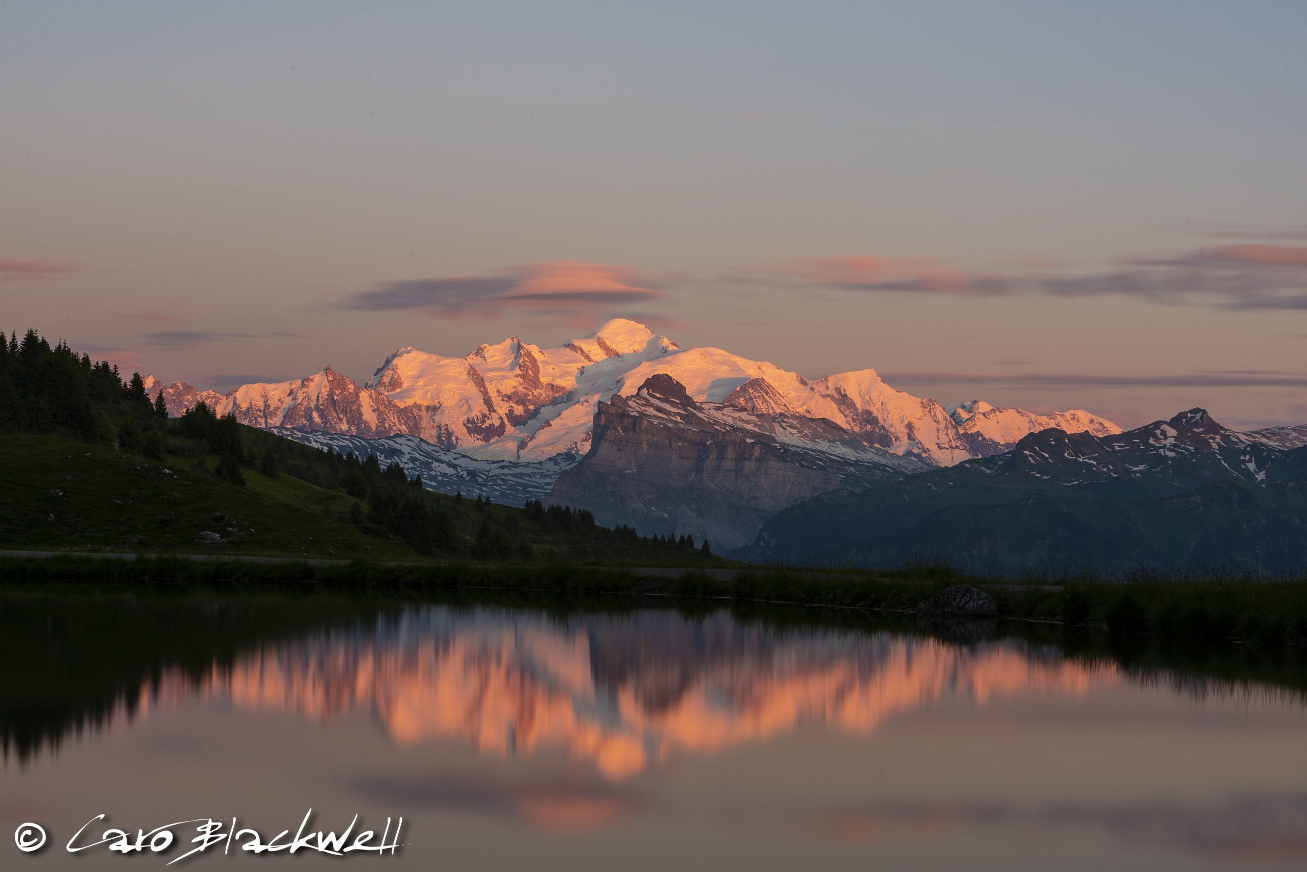 Mont Blanc Sunset - Caro Blackwell Photography
